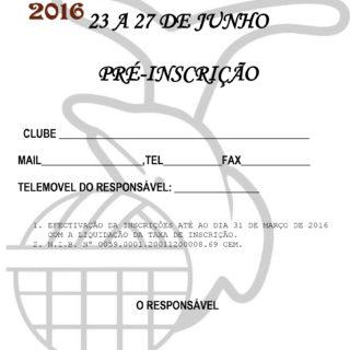 Ficha de Pré-Inscrição